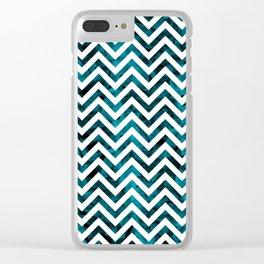 Tropical chevron I Clear iPhone Case