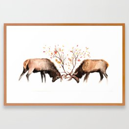 Botanical Deer Framed Art Print