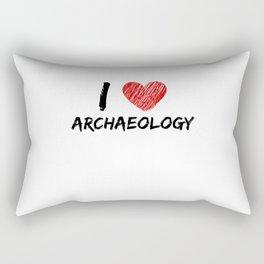 I Love Archaeology Rectangular Pillow