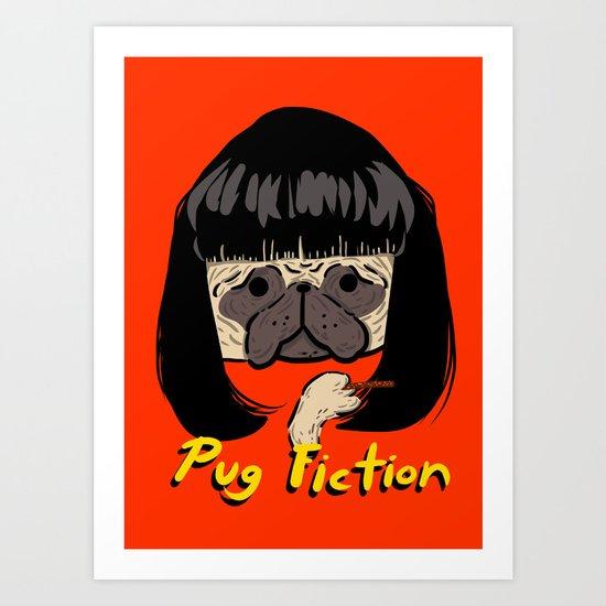 Pug Fiction Art Print