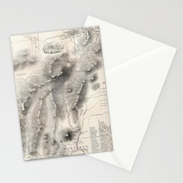 Vintage Map of The White Mountains (1864) Stationery Cards