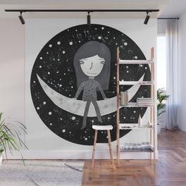 En la luna Wall Mural