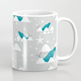 Sea unicorn - Narwhal grey Coffee Mug