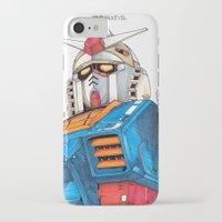 gundam iPhone & iPod Cases featuring Gundam by Sheharzad