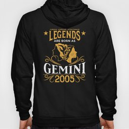 Birthday Gift Born As Gemini 2005 Hoody