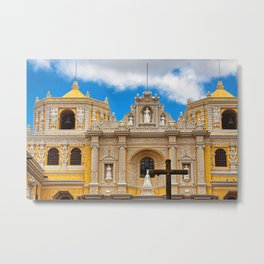 Cathedral in Antigua, Guatemala Metal Print