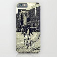 Cyclist over railway Slim Case iPhone 6s