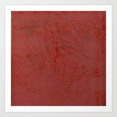Tuscan Red Stucco - Rustic Glam Art Print