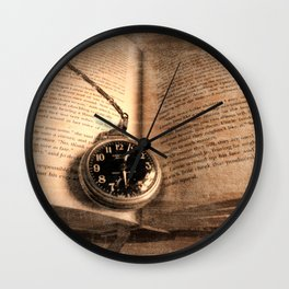 Rustic Story Time Still life Book Watch Modern Cottage Chic Art A551 Wall Clock