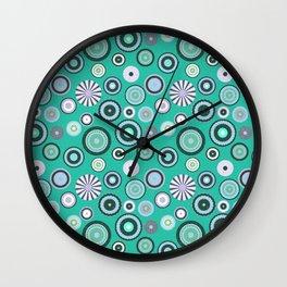 Winter circles Wall Clock