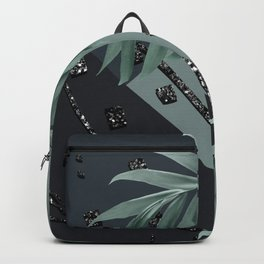 Night Palms Cali Vibes Abstract Glitter Glam #1 #tropical #decor #art #society6 Backpack