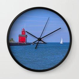 Holland Harbor Light Wall Clock