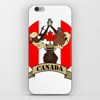 canada iPhone & iPod Skins featuring CANADA by scarah