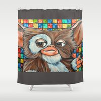 gizmo Shower Curtains featuring Gizmo  by Portraits on the Periphery