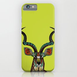 antelope chartreuse iPhone Case