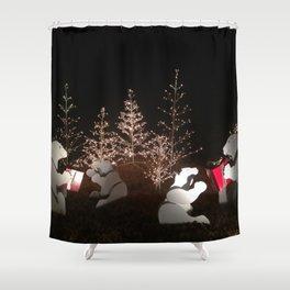 Polar Bear Christmas Shower Curtain