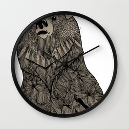 Beary Hairy Wall Clock