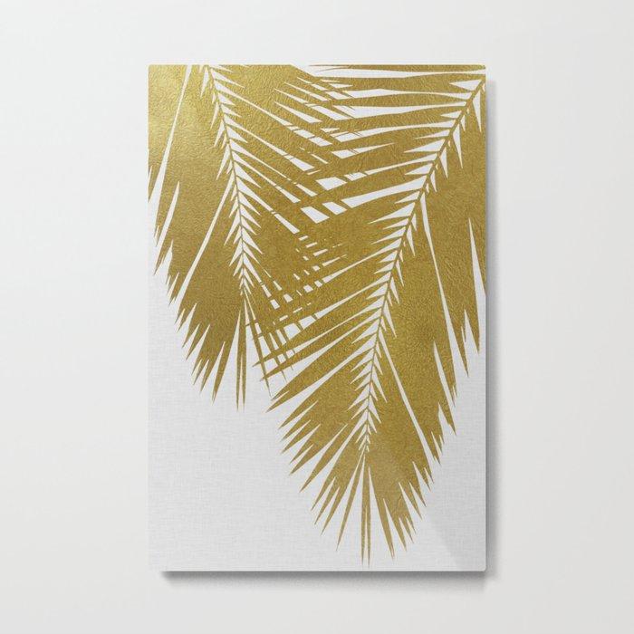 Palm Leaf Gold II Metal Print