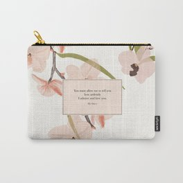 You must allow me...Mr. Darcy. Pride and Prejudice. Carry-All Pouch
