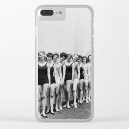 Vintage Beauty Queens Swimsuit Lineup 1950s Clear iPhone Case
