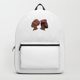 Afro Couple Backpack