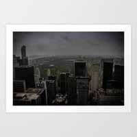 central park Art Prints featuring Central Park by liberthine01