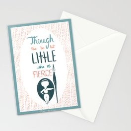 Though She be but Little Stationery Cards