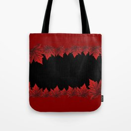 Canada Souvenir Red Maple Leaf Tote Bag