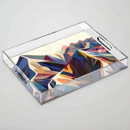 Mountains original Acrylic Tray