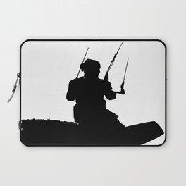 Wakeboarder Kitesurfing Silhouette Laptop Sleeve