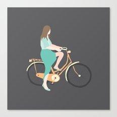 Girl on a bike Canvas Print