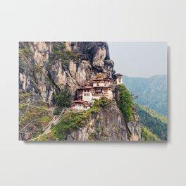Bhutan: Paro Taktsang Metal Print