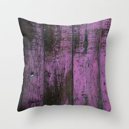 Purple Country Faux Barn Wood Throw Pillow