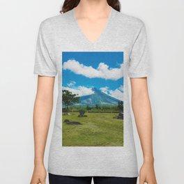 Mayon Volcano Unisex V-Neck