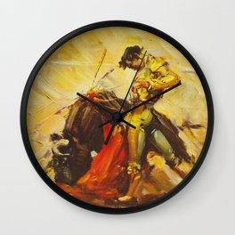 Vintage Mexico Bullfighting Travel Wall Clock