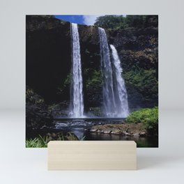 Peaceful Waimea Falls in Kauai, Hawaii Mini Art Print