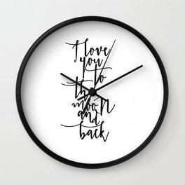 I Love You To The Moon And Back Nursery Decor Newborn Baby Room Decor Printable Art Nursery Wall Dec Wall Clock