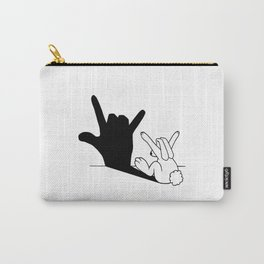 Rabbit Love Hand Shadow Carry-All Pouch