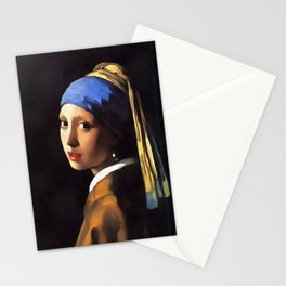 Girl with a Pearl Earring After Johannes Vermeer Stationery Cards