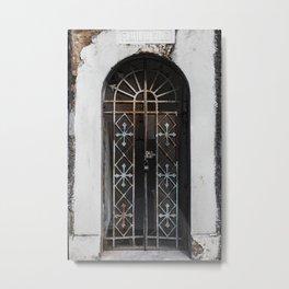 Rusted Metal Gate Metal Print