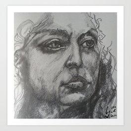 Pencil Sketch of Female Face/Portrait. Graphite Art Print