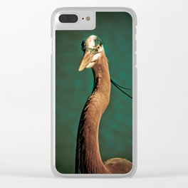 Close-up of a Great Blue Heron Clear iPhone Case