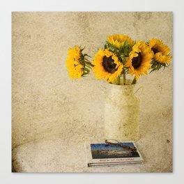 Vintage Sunflowers Canvas Print