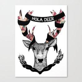 Hello Deer Canvas Print