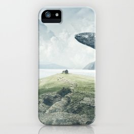 Magnificent Hunchback Whale Little Boy Fantasy Fjord Landscape Ultra HD iPhone Case