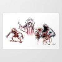 muppets Art Prints featuring Horror Muppets by Austen Mengler