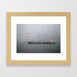 R.A.I.N. Framed Art Print