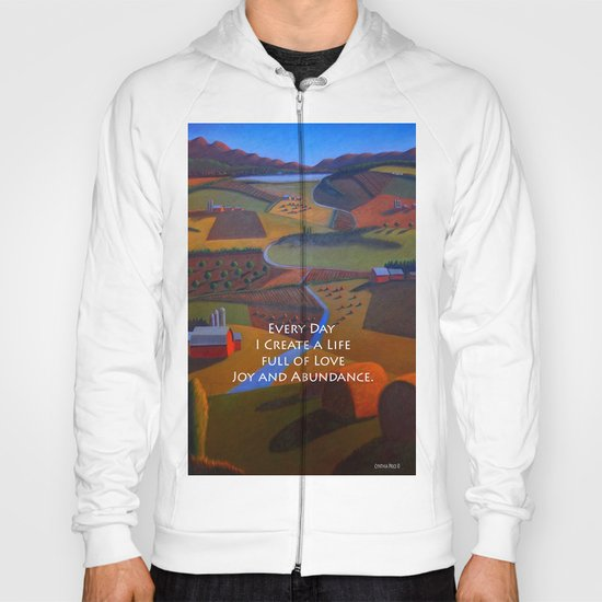Love, Joy and Abundance Mantra - Cynthia Price Painting Hoody