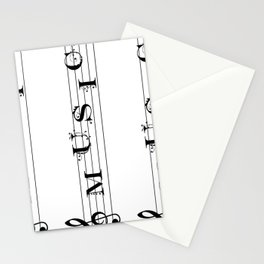 Music typography Stationery Cards