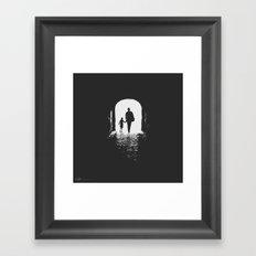 Hold my hand Framed Art Print
